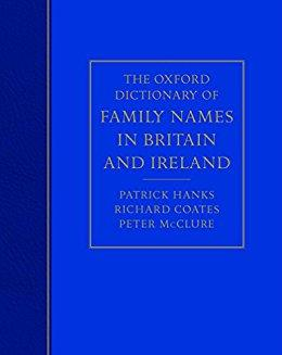 Oxford dictionary of family names