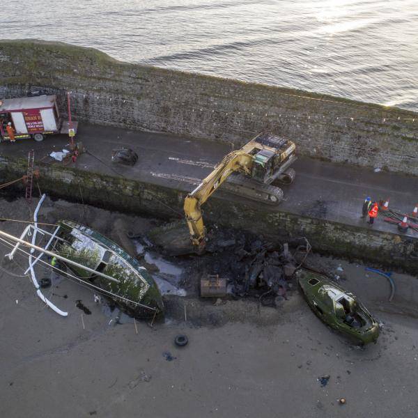 Fingal County Council are removing three wrecks from Balbriggan Harbour as part of its plans to improve the Harbour under the Balbriggan Rejuvenation Plan.