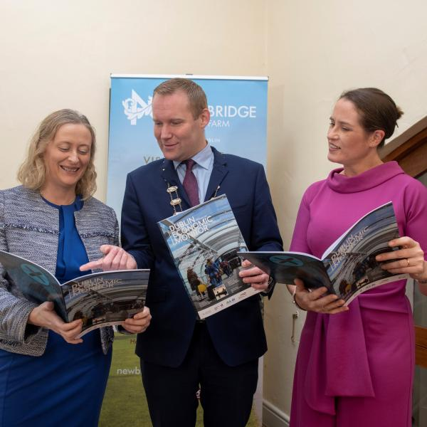 Mayor of Fingal Cllr Eoghan O'Brien with Director of Services for Economic, Enterprise & Tourism Development Emer O'Gorman (right) and Senior Executive Officer Aoife Sheridan.