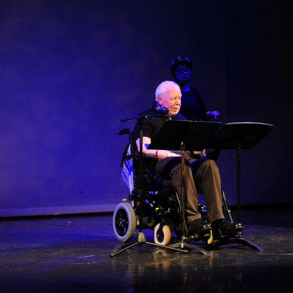 Brian Brophy performs his original theatre piece at the Draiocht.
