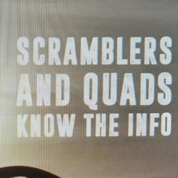 Scramblers and Quads Safety image