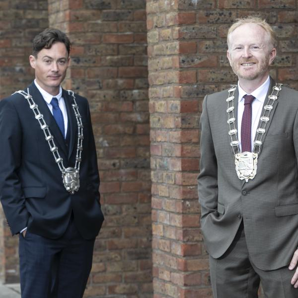 Mayor fo Fingal, Cllr David Healy (right) and Deputy Mayor, Cllr Robert O'Donoghue