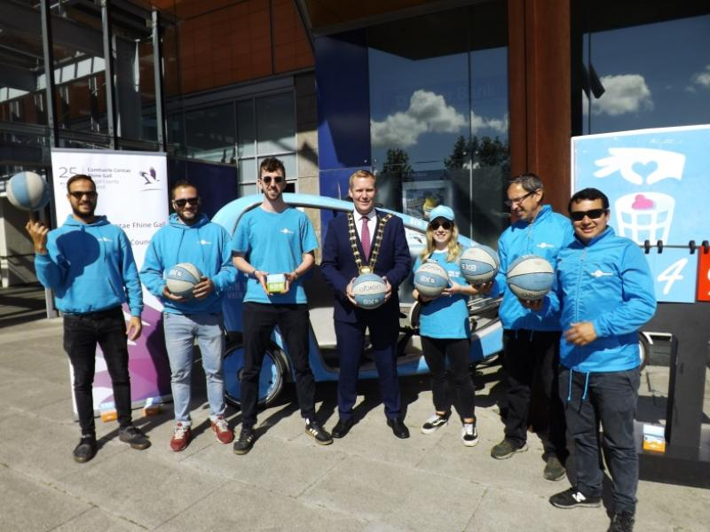 Gum Litter Awareness Taskforce members with Mayor of Fingal County Council Cllr Eoghan O'Brien