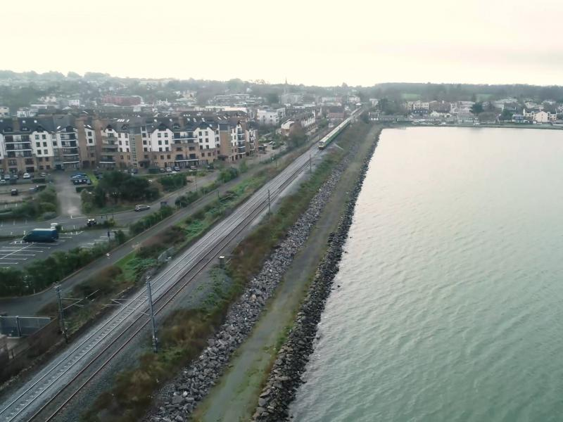 The railway line over the Broadmeadow Estuary, Malahide