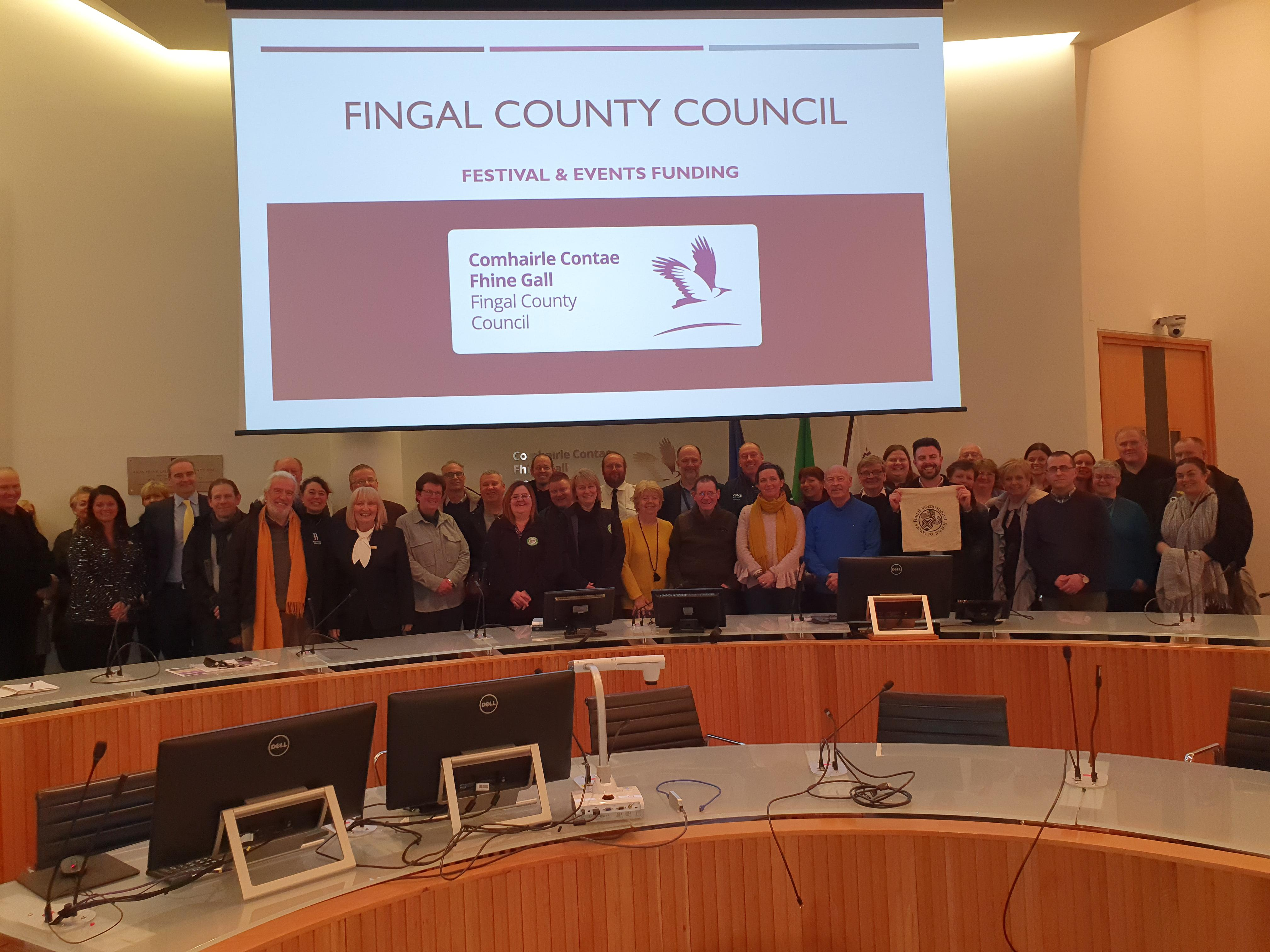 Groups attending The Festival and Funding session at Fingal offices.