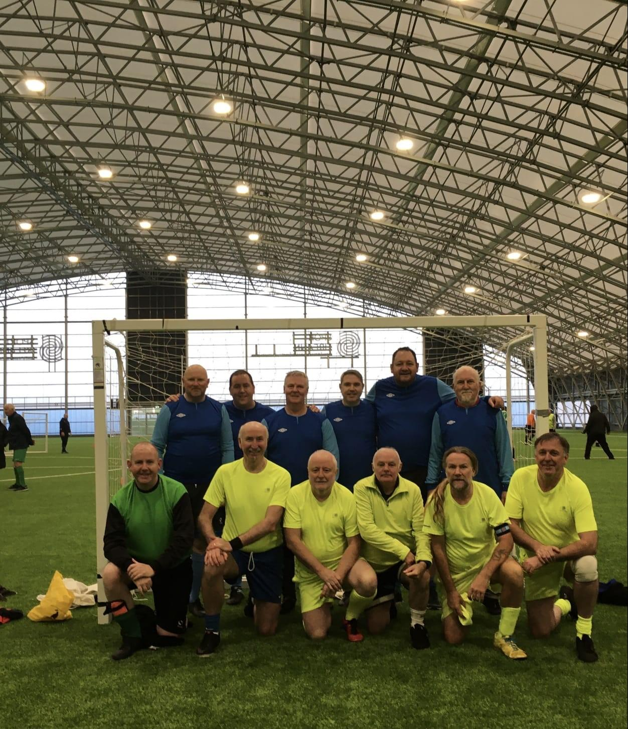 Participants at the Walking Football Festival