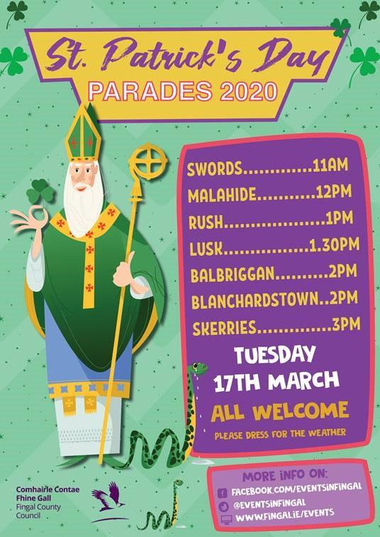 St. Patrick's Day Parades 2020 Poster